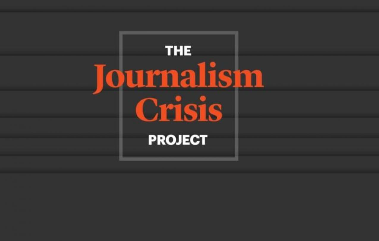 Text: The Journalism Crisis Project
