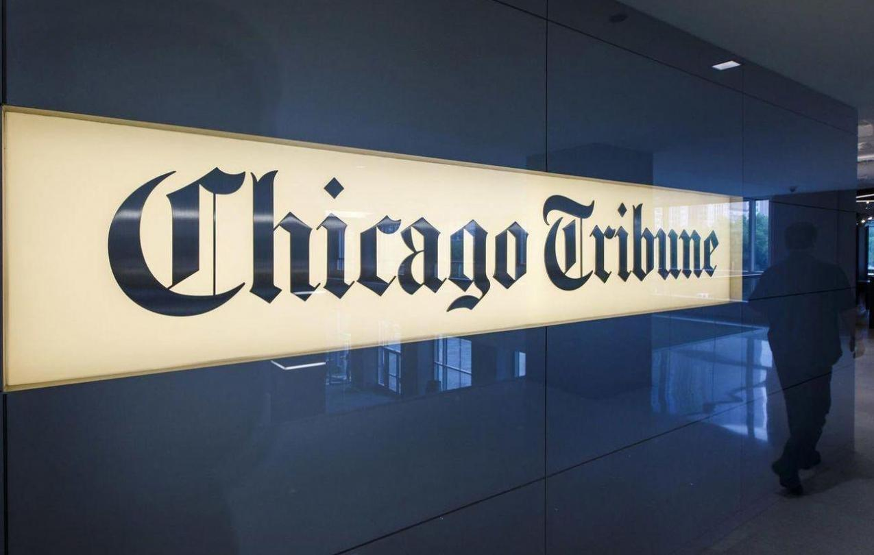 Chicago Tribune sign