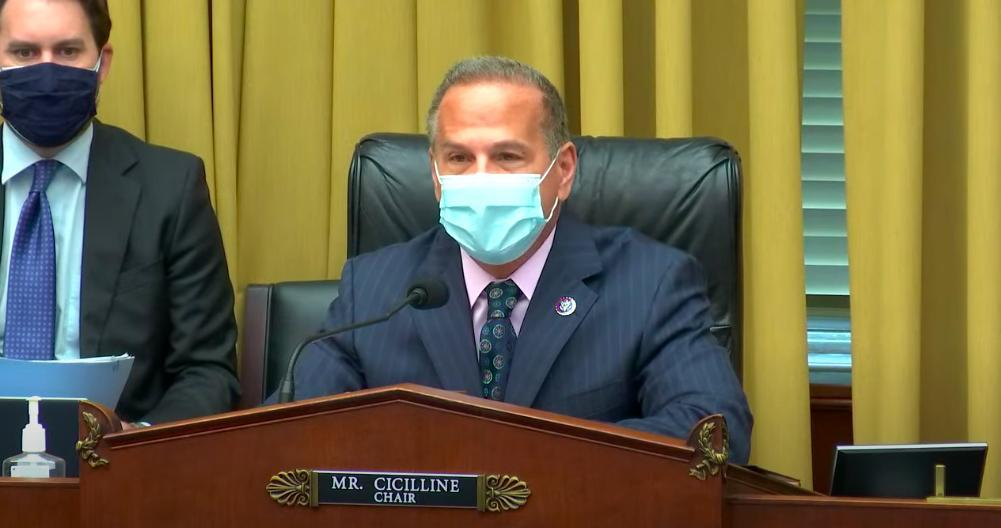 Rep. David Cicilline at subcommittee hearing.