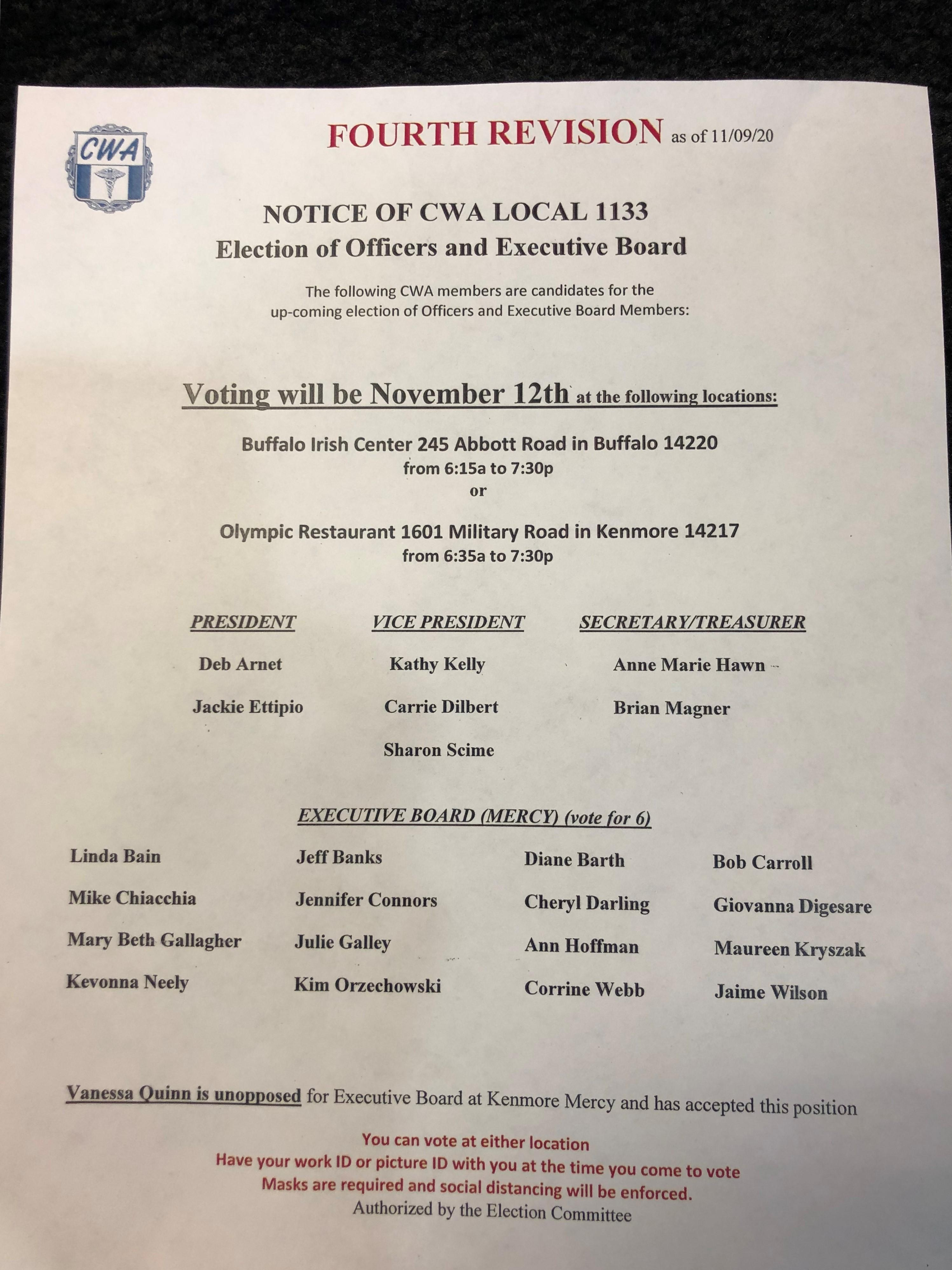 CWA 1133 Elections 11.12.2020 amended flyer 4